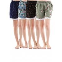 Combo 4 quần short tôn nữ siêu mát Phúc An 3014 bốn màu