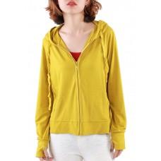 Áo khoác nữ thun lạnh có túi trong và tay xỏ ngón Phúc An 4034 màu cải