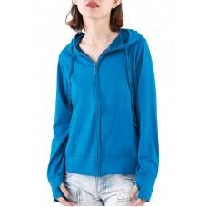 Áo khoác nữ thun lạnh có túi trong và tay xỏ ngón Phúc An 4034 màu cổ vịt