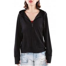 Áo khoác nữ thun lạnh có túi trong và tay xỏ ngón Phúc An 4034 màu đen