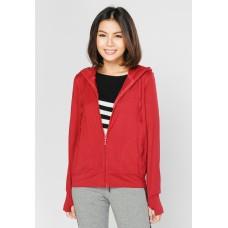 Áo khoác nữ thun lạnh có túi trong và tay xỏ ngón Phúc An 4034 màu đỏ